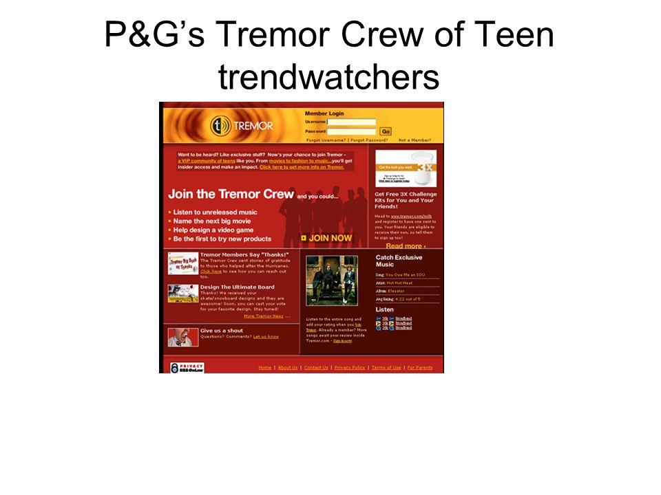 P&G's Tremor Crew of Teen trendwatchers