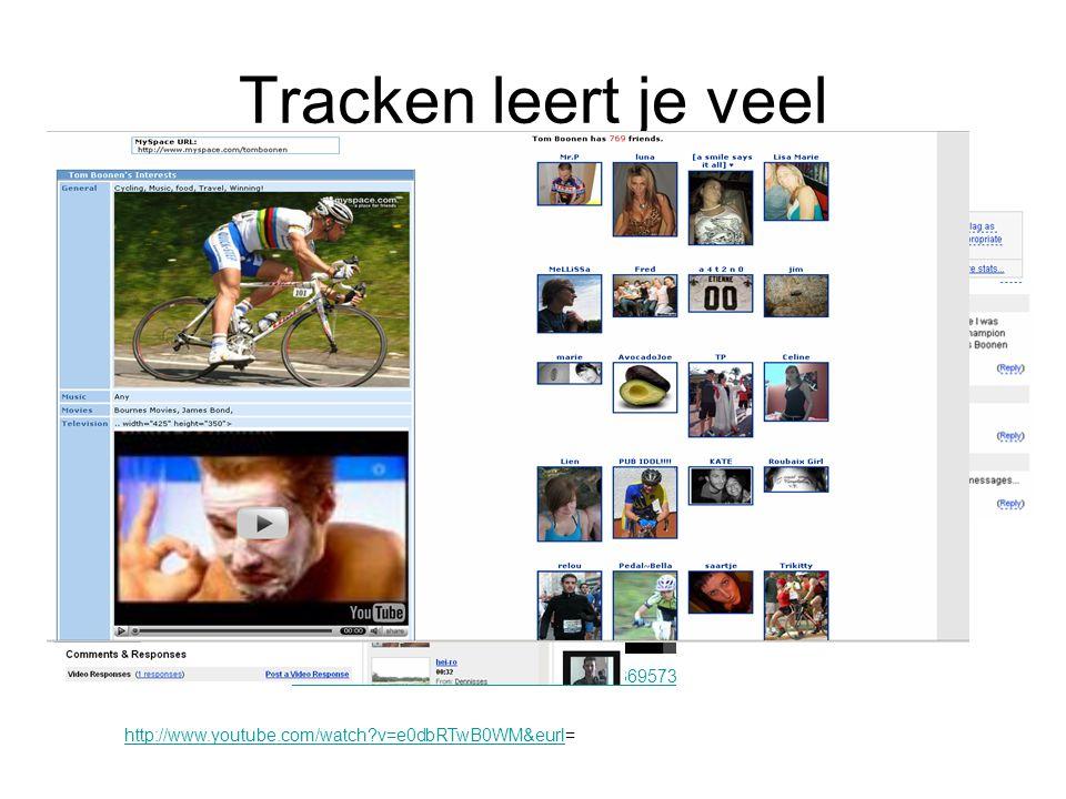 Tracken leert je veel http://beleuvenissen.skynetblogs.be/post/3695733 http://www.youtube.com/watch?v=e0dbRTwB0WM&eurlhttp://www.youtube.com/watch?v=e