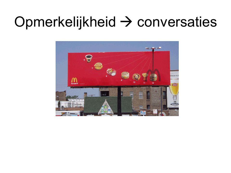 Opmerkelijkheid  conversaties