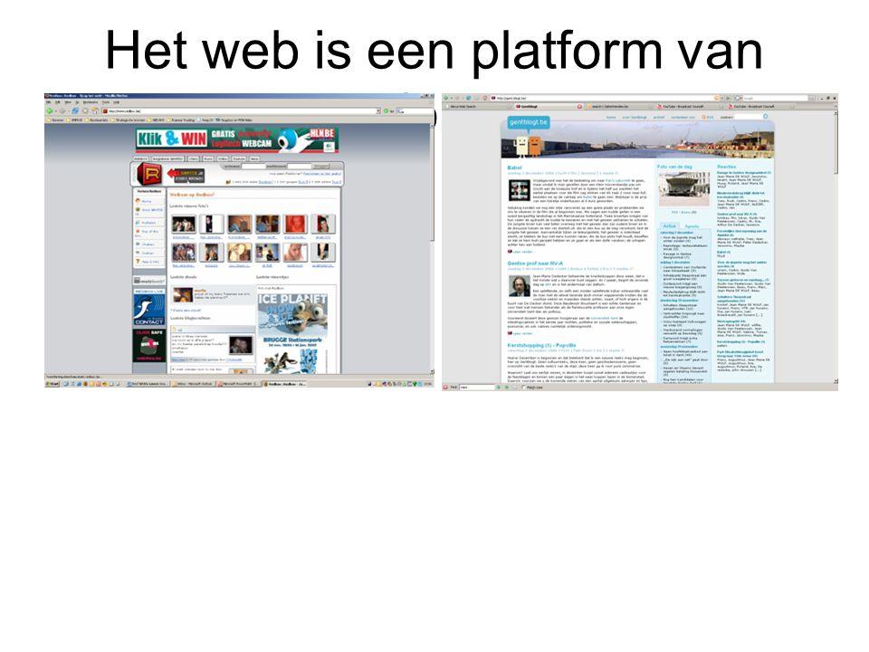 Het web is een platform van platformen
