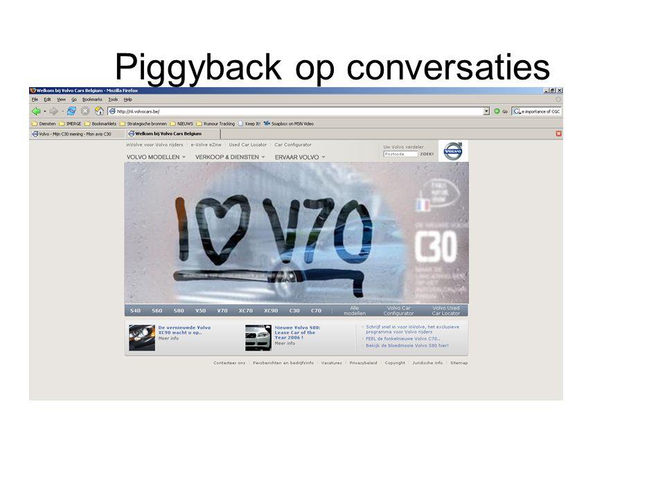 Piggyback op conversaties