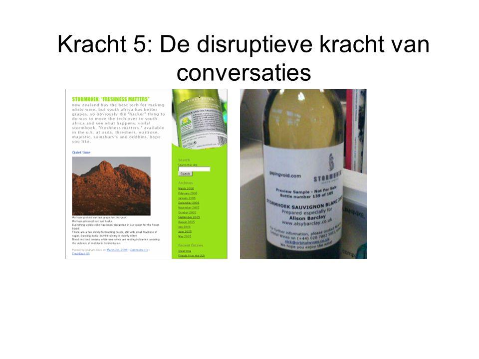 Kracht 5: De disruptieve kracht van conversaties