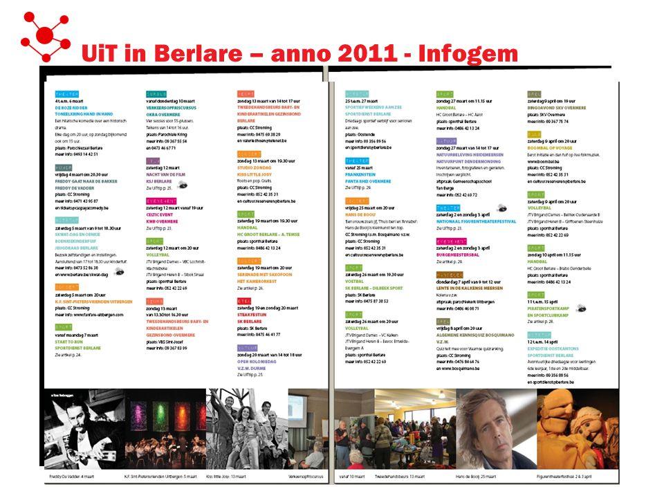 UiT in Berlare – anno 2011 - Infogem