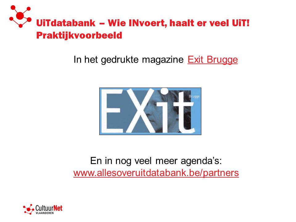 UiTdatabank – Wie INvoert, haalt er veel UiT.