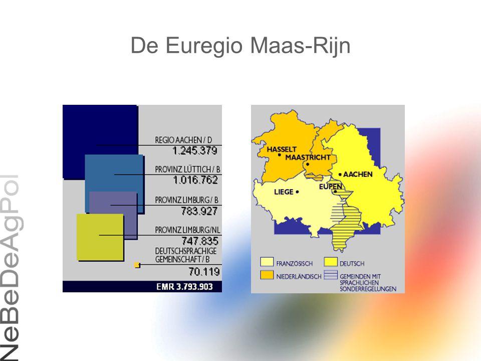 Euregionale werkgroep « criminaliteit » Samenstelling : De politiechefs van gerechtelijke politie D-NL-B : Kriminalpolizei Aachen – Heinsberg – Düren – Euskirchen (D) Regiorecherche Limburg-zuid (NL) FGP Eupen – Hasselt – Liège – Tongeren – Verviers (B)