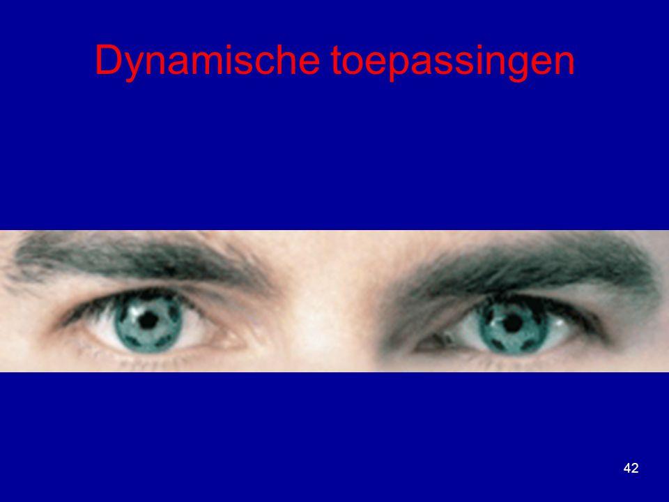 Dynamische toepassingen 42