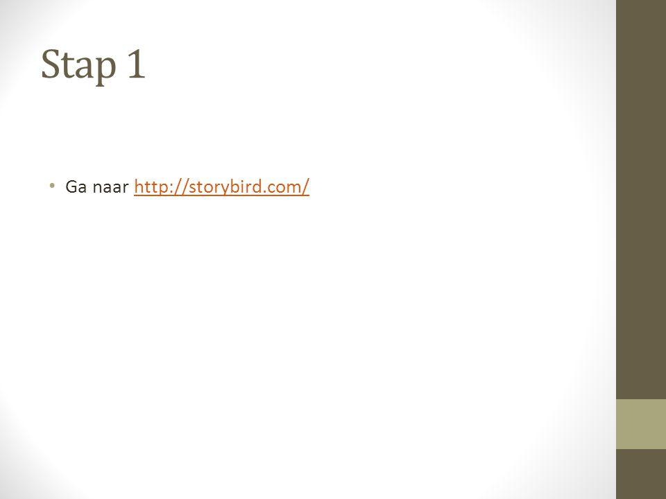 Stap 1 Ga naar http://storybird.com/http://storybird.com/