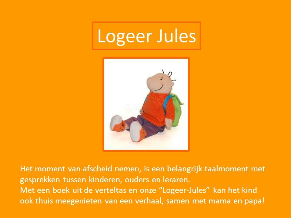 Logeer Jules Het moment van afscheid nemen, is een belangrijk taalmoment met gesprekken tussen kinderen, ouders en leraren. Met een boek uit de vertel