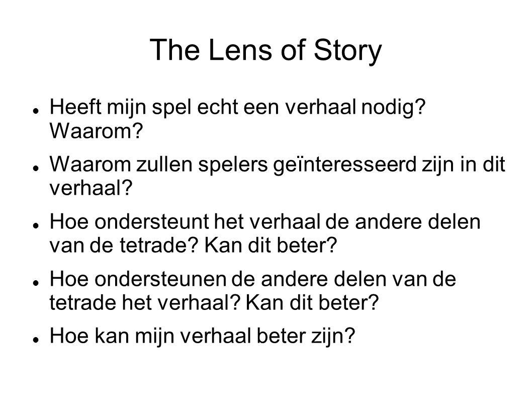The Lens of Story Heeft mijn spel echt een verhaal nodig.