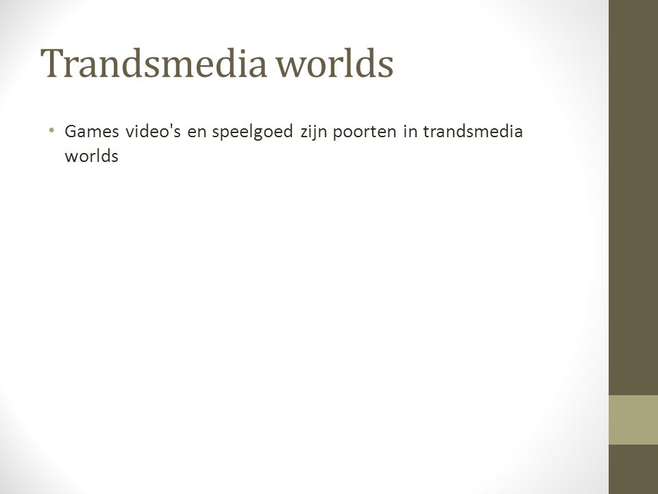 Trandsmedia worlds Games video's en speelgoed zijn poorten in trandsmedia worlds