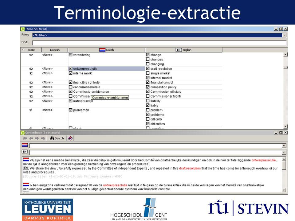 Vertaalhulpmiddel Hulpmiddel tijdens vertaalproces –Bij zoektocht naar meest geschikte term, woord, stijl, idiomatisch taalgebruik,...