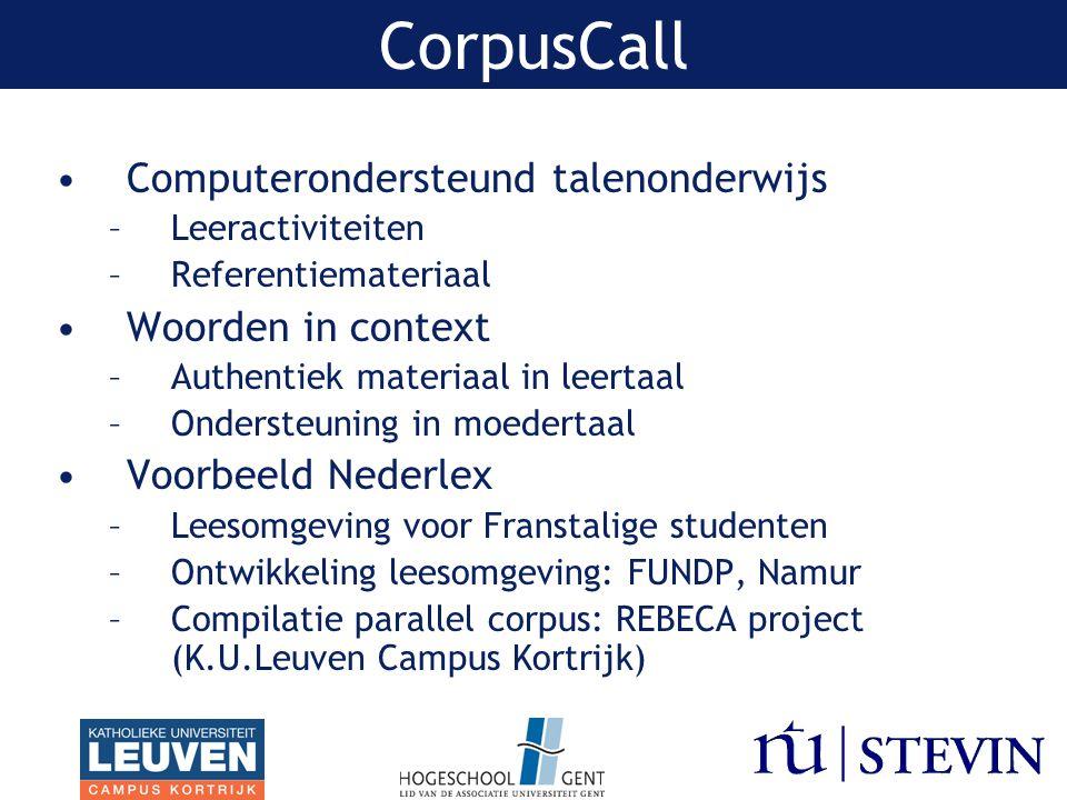 Corpus Geschreven Nederlands Compatibiliteit Corpus Geschreven Nederlands –Codering metadata –PoS tagger