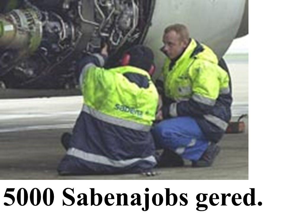 De hoofdpunten van Dinsdag 05/02/'02. 5000 Sabenajobs gered. ****** Carrefour Drogenbos nog steeds dicht.