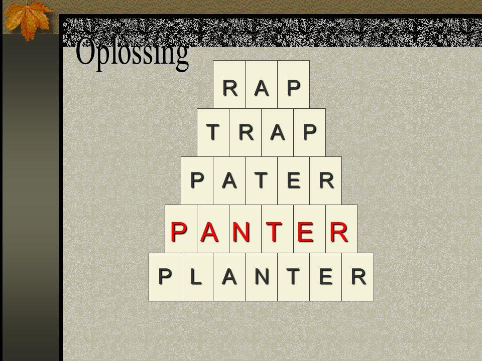 RAP TRAP PATER NALPTER P A N T E R