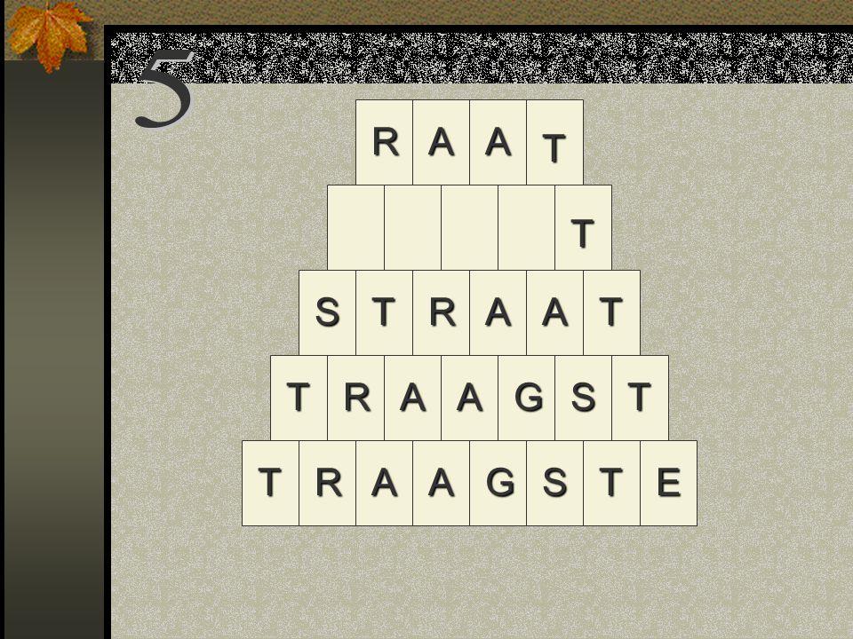 RAAT R STAGTRA TRAAGSTE TSAAT AA T R T
