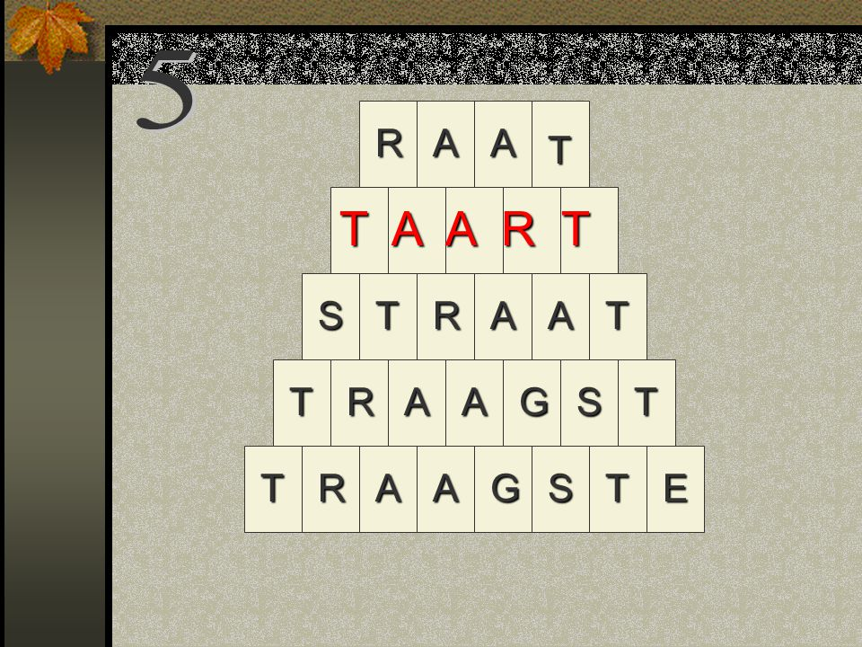 R STAGTRA TRAAGSTE TSAAT AA T R T A A R T