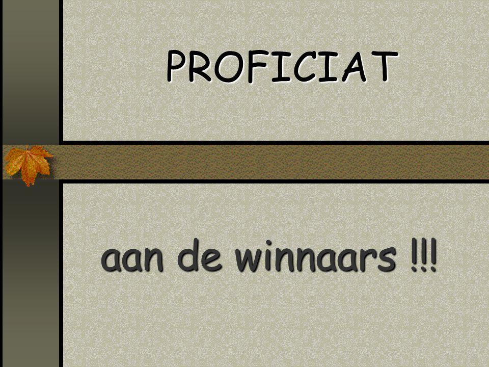 PROFICIAT aan de winnaars !!!