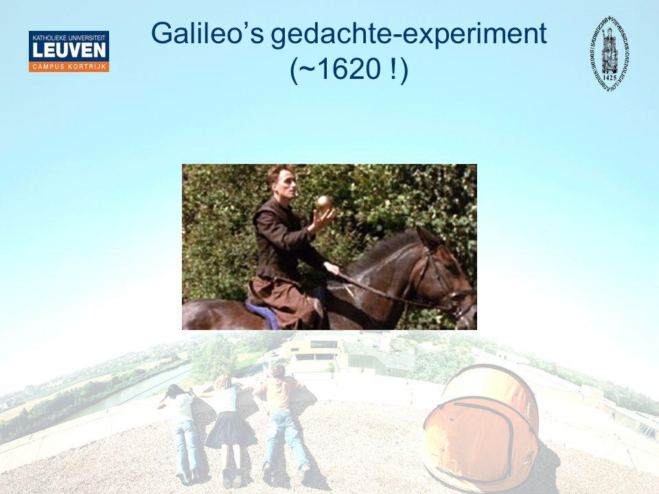 Einstein: Waarneming … De snelheid van het licht is dezelfde in alle referentiestelsels (dit wisten Galileo en Newton niet)  De lichtsnelheid is een natuurconstante  Toevoegen aan de andere natuurwetten  Op zoek naar transformaties die deze allemaal respecteren  (Hopelijk vinden we ergens Galileo en Newton terug)