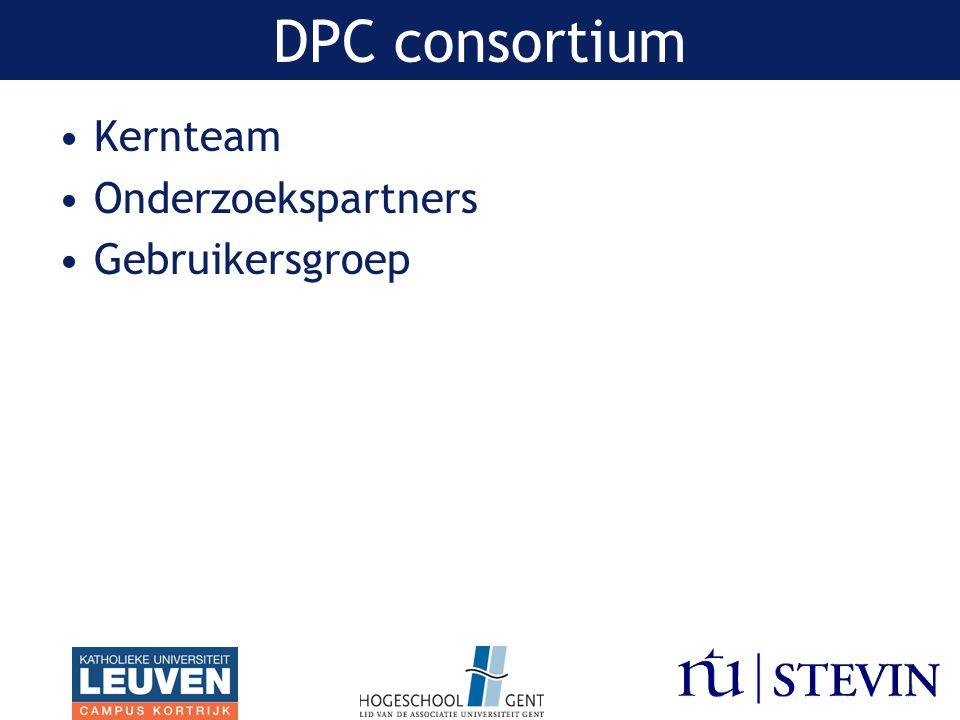 Kernteam Onderzoekspartners Gebruikersgroep DPC consortium