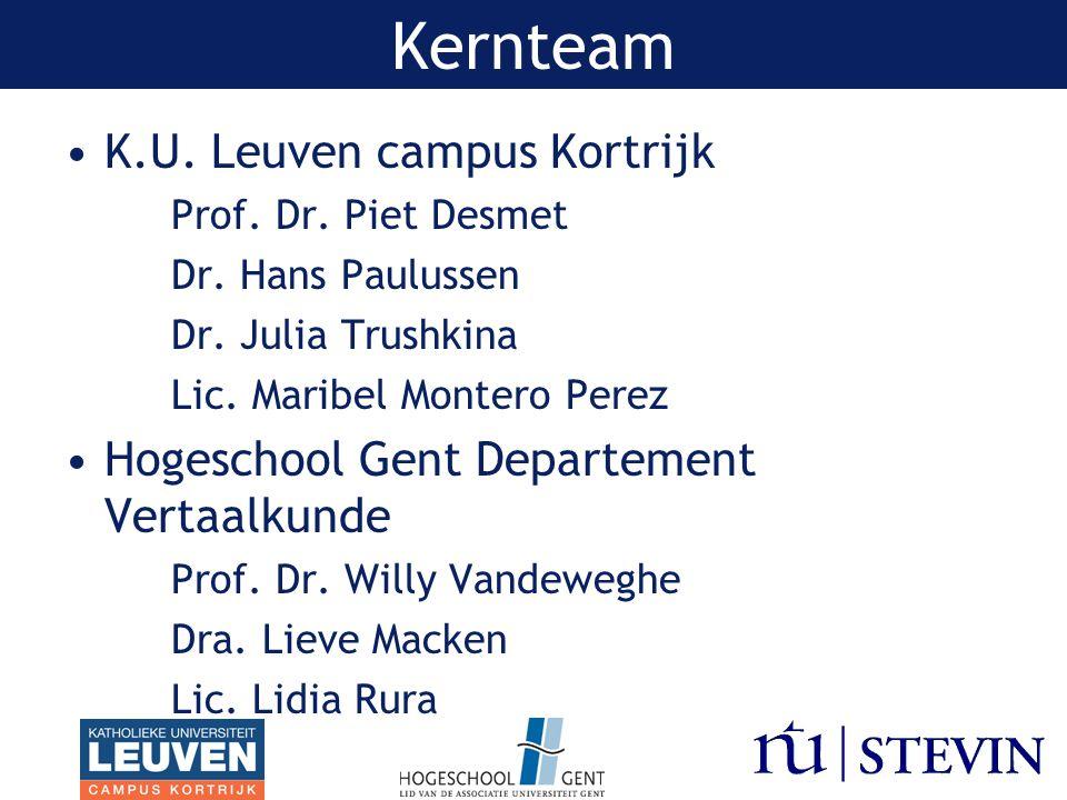 K.U. Leuven campus Kortrijk Prof. Dr. Piet Desmet Dr.