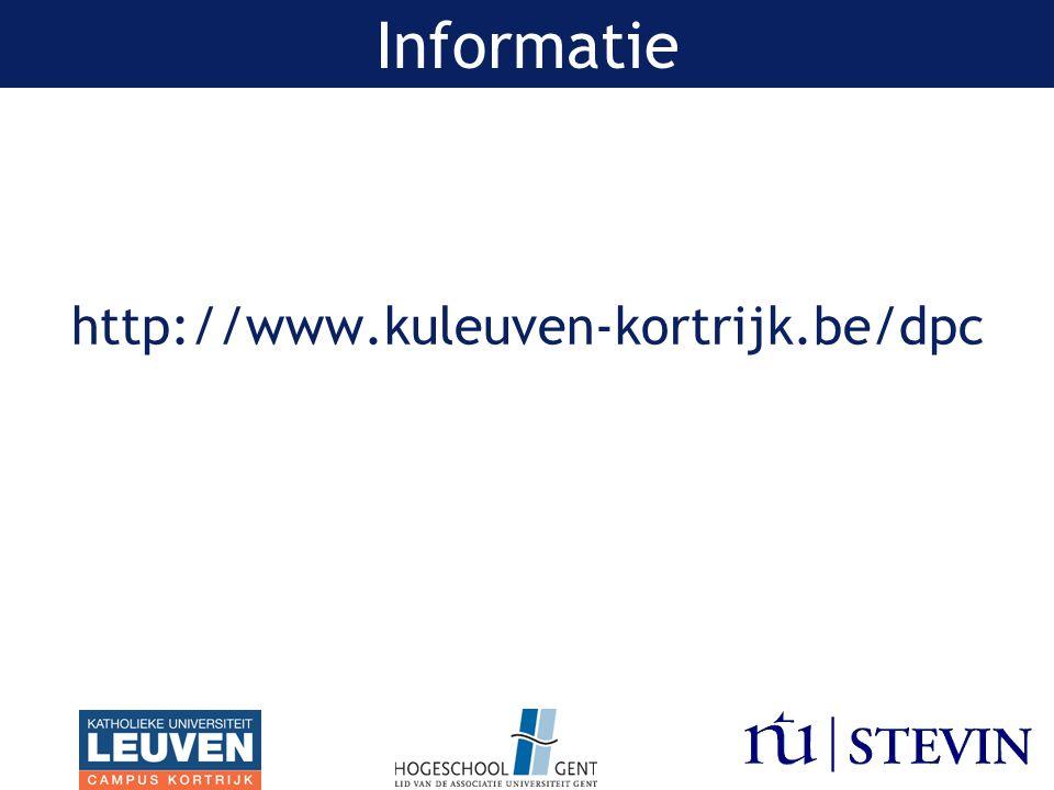http://www.kuleuven-kortrijk.be/dpc Informatie