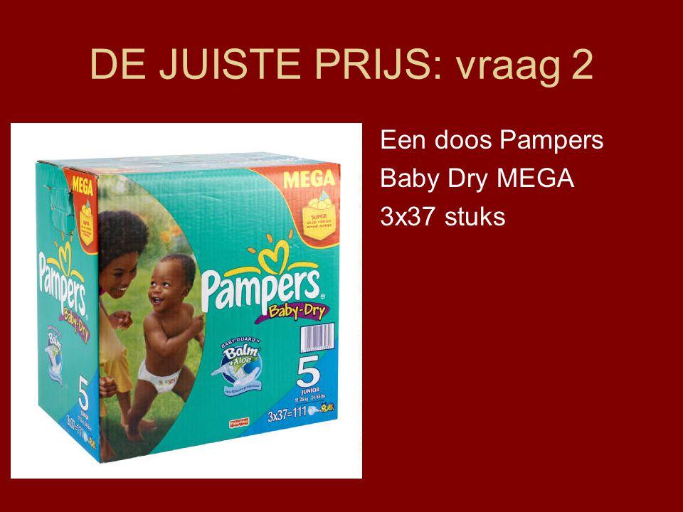 DE JUISTE PRIJS: vraag 2 Een doos Pampers Baby Dry MEGA 3x37 stuks