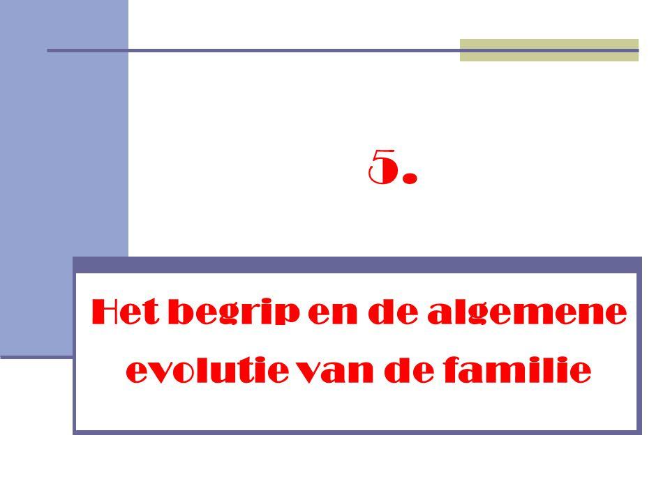Het begrip en de algemene evolutie van de familie 5.