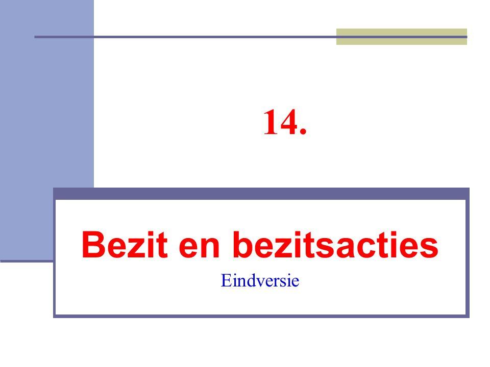 Gevolgen van de possessio De bezitter werd beschermd met een interdict De bezitter had de (voordelige) positie van de verweerder in een revindicatieproces.