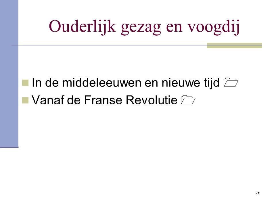 59 Ouderlijk gezag en voogdij In de middeleeuwen en nieuwe tijd  Vanaf de Franse Revolutie 