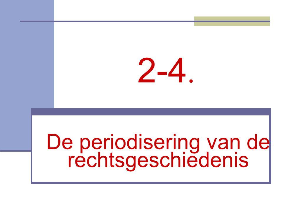 2-4. De periodisering van de rechtsgeschiedenis