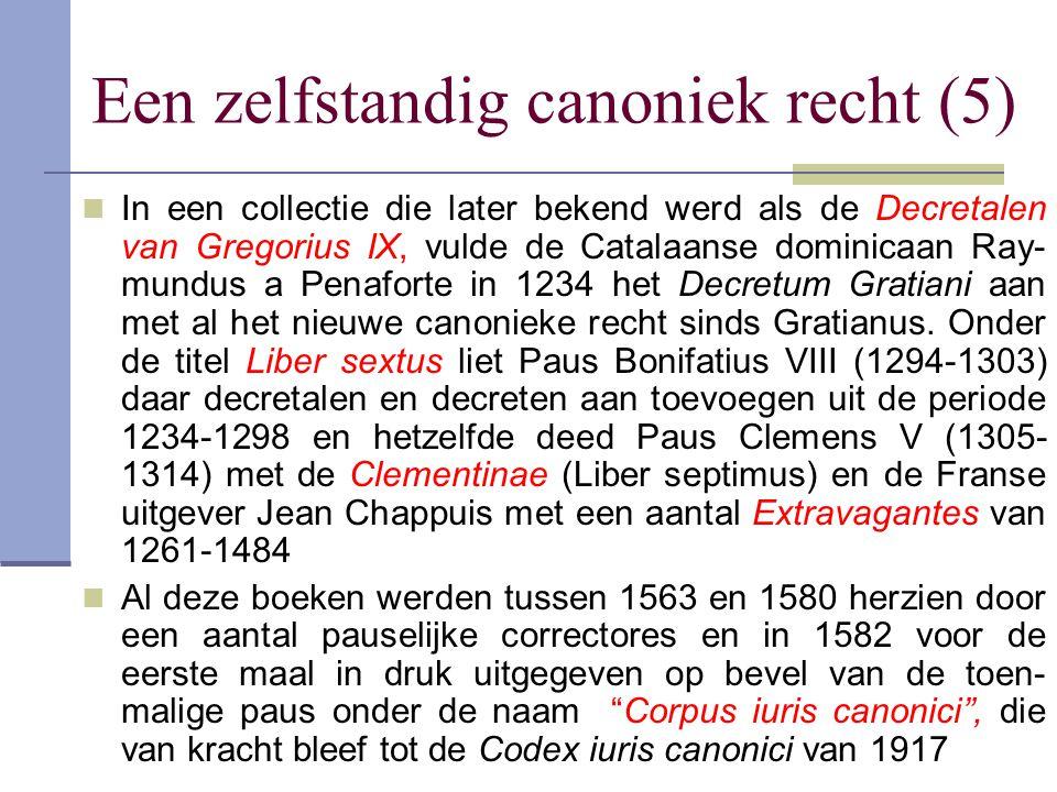 Een zelfstandig canoniek recht (5) In een collectie die later bekend werd als de Decretalen van Gregorius IX, vulde de Catalaanse dominicaan Ray- mund