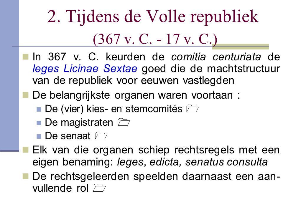 De vier kies- en stemcomités en hun leges (1) De Romeinen hadden vier vergaderingen waar het volk, of beter hun vertegenwoordigers, per geval werd samenge- roepen om 1° bepaalde magistraten te verkiezen of 2° aan een voorstel van hun voorzitter hun instemming of niet- instemming te geven aan een voorstel tot lex De comitia curiata Werden door de pontifex maximus bijeengeroepen en voor- gezeten Hierin zetelde slechts 30 man, één uit elk van de 10 curies van de 3 centra uit de Koningstijd Keurden de lex curiata de imperio goed bij het aantreden van consuls en praetoren waardoor die hun soevereine macht kregen