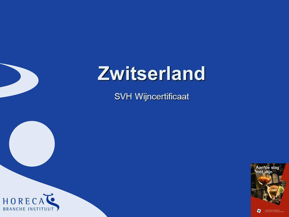 Zwitserland SVH Wijncertificaat