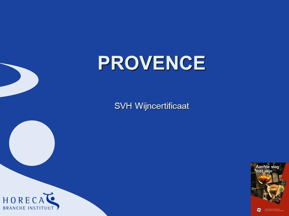 PROVENCE SVH Wijncertificaat