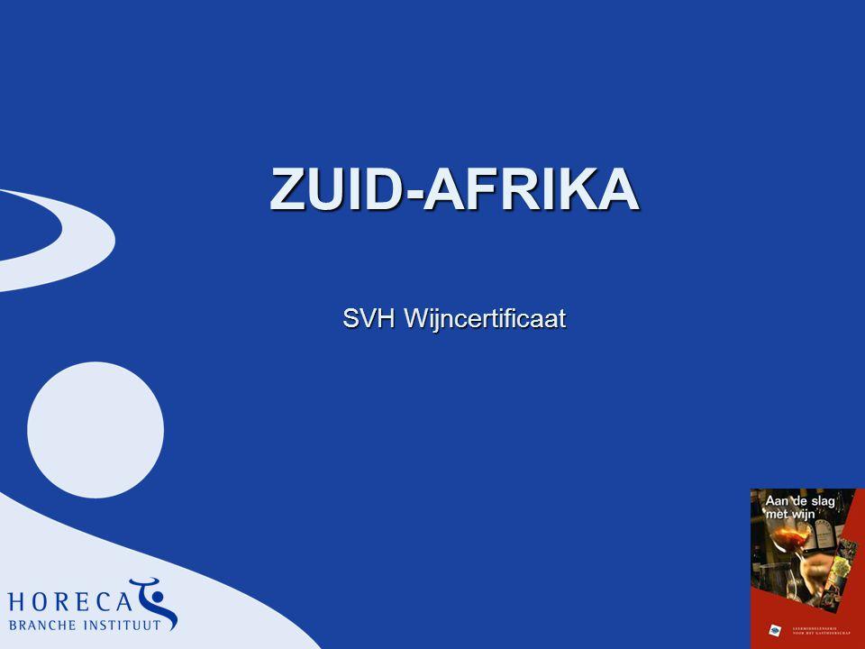 ZUID-AFRIKA SVH Wijncertificaat