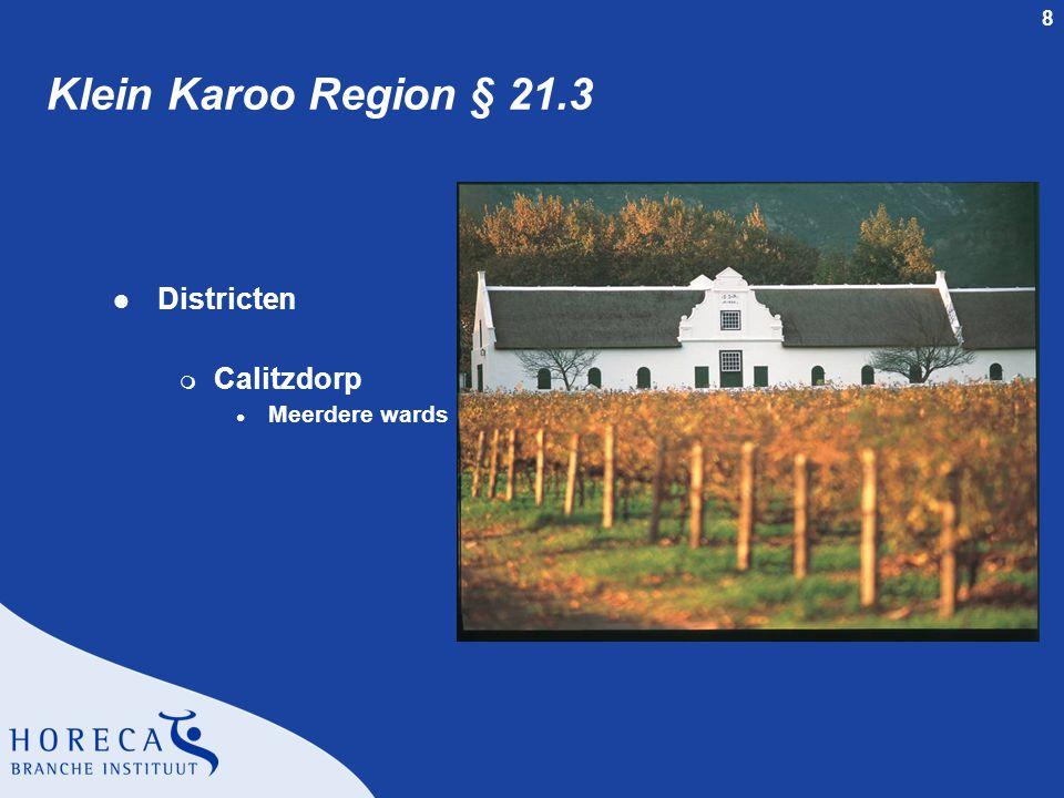8 Klein Karoo Region § 21.3 l Districten m Calitzdorp l Meerdere wards