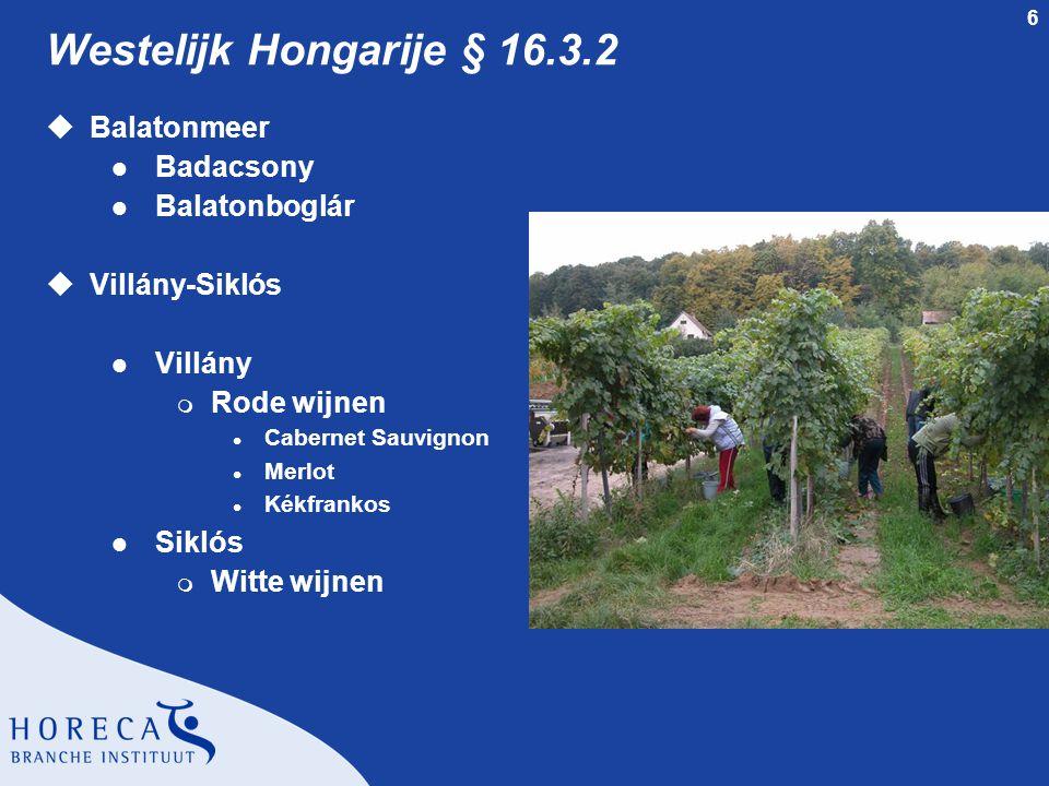 6 Westelijk Hongarije § 16.3.2 uBalatonmeer l Badacsony l Balatonboglár uVillány-Siklós l Villány m Rode wijnen l Cabernet Sauvignon l Merlot l Kékfra