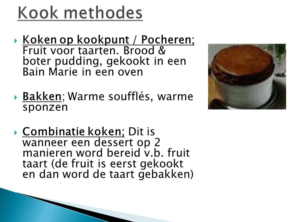  Koken op kookpunt / Pocheren; Fruit voor taarten.