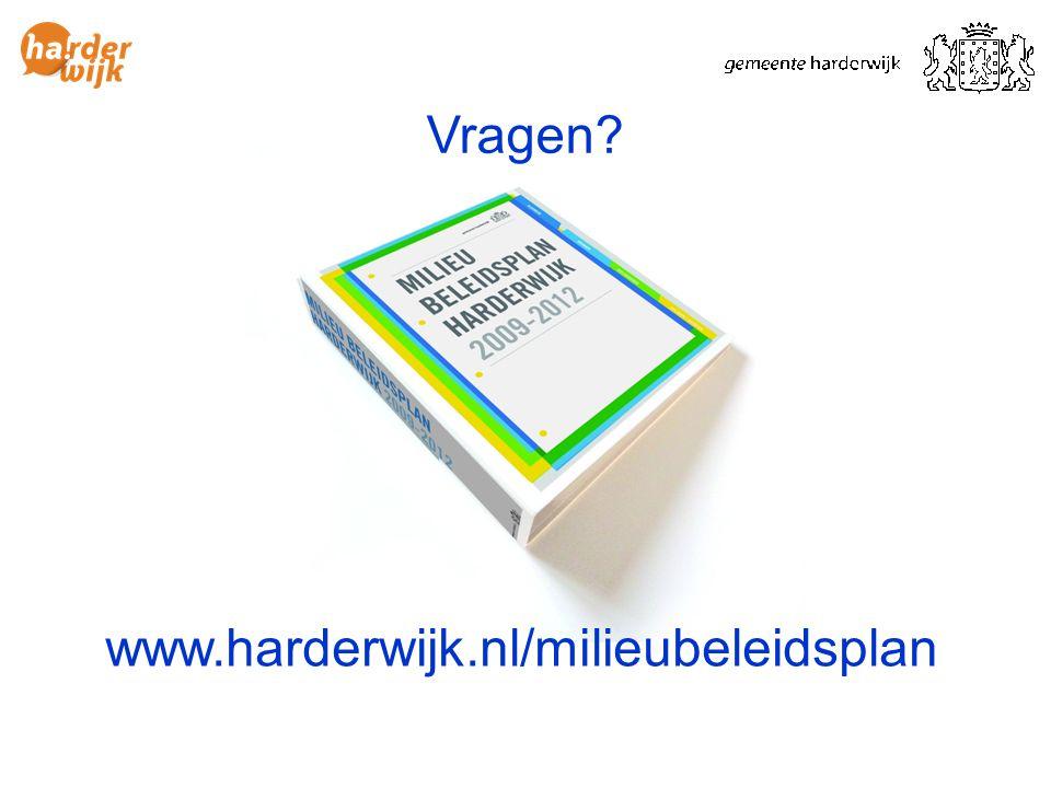www.harderwijk.nl/milieubeleidsplan Vragen?