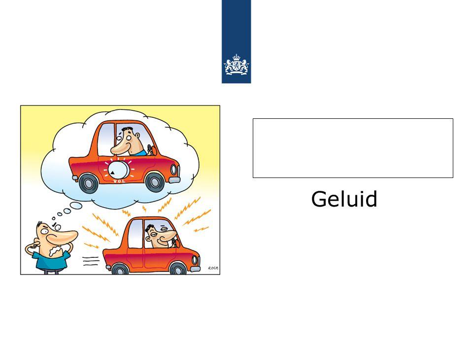 Nog meer maatregelen bron: www.stilleropweg.nlwww.stilleropweg.nl 6.Stille banden (effect 2-3 dB) 7.In-car apparatuur 8.Alternatieve brandstoffen 9.Gebiedsgerichte maatregelen 10.Gedrag (HNR, LARGAS) LAngzaam Rijden GAat Sneller