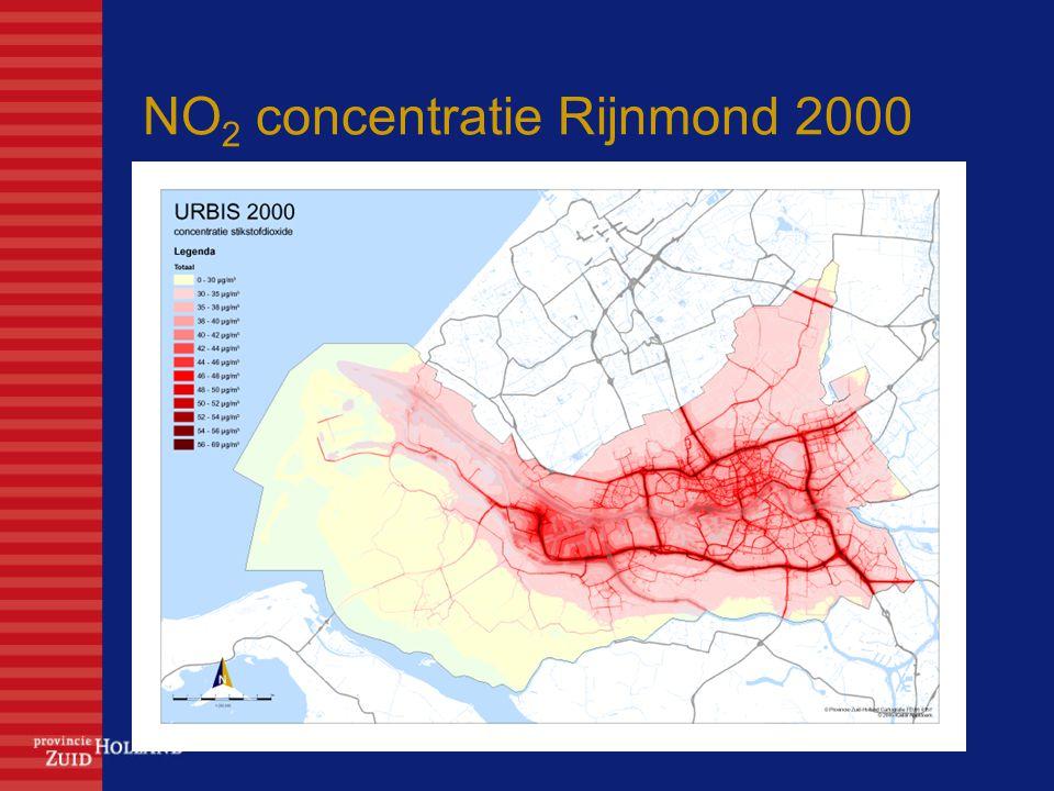 NO 2 concentratie Rijnmond 2000