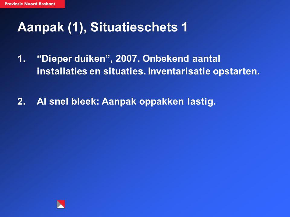 Aanpak (1), Situatieschets 1 1. Dieper duiken , 2007.