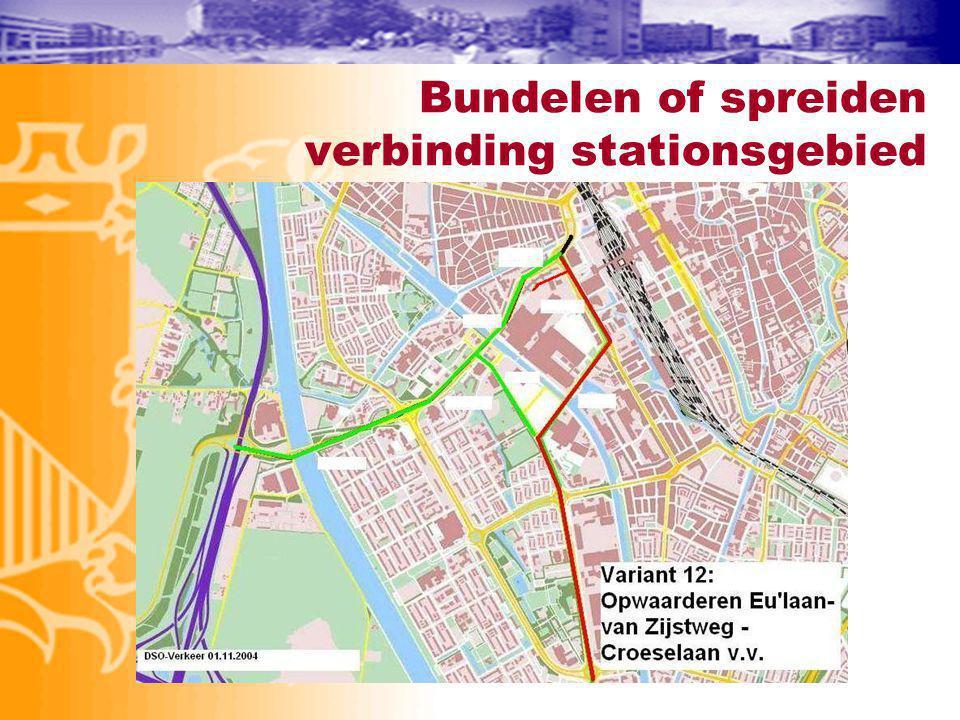 Bundelen of spreiden verbinding stationsgebied