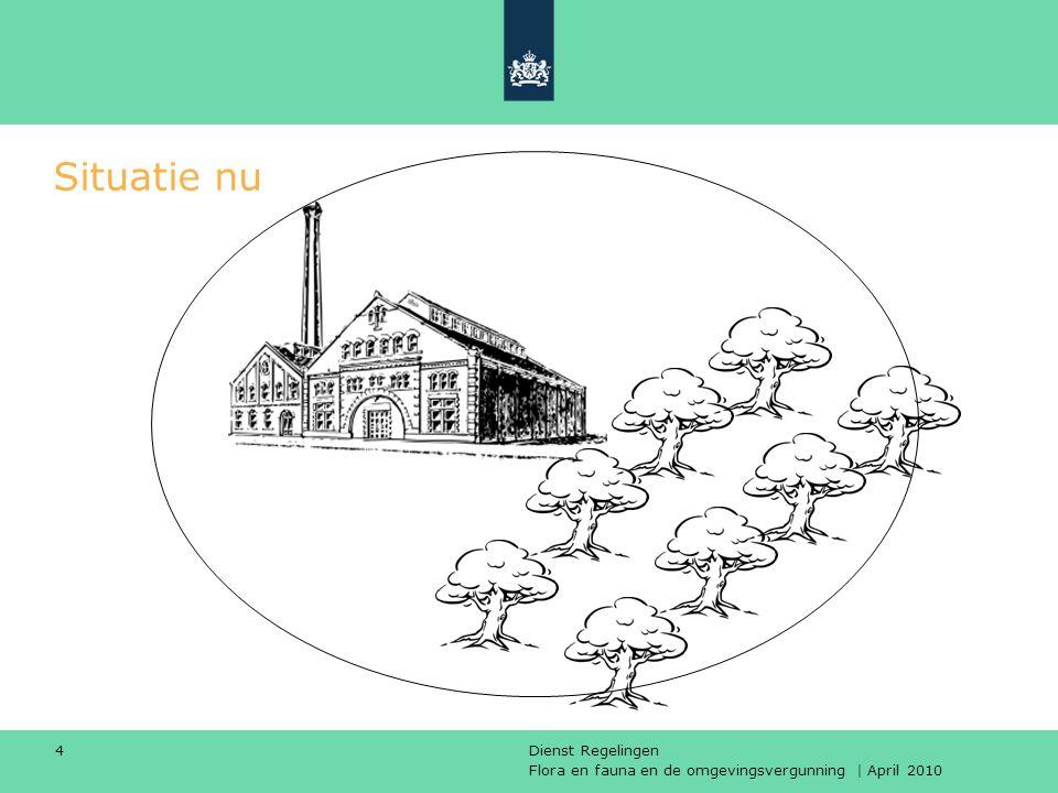 Flora en fauna en de omgevingsvergunning | April 2010 Dienst Regelingen 4 Situatie nu