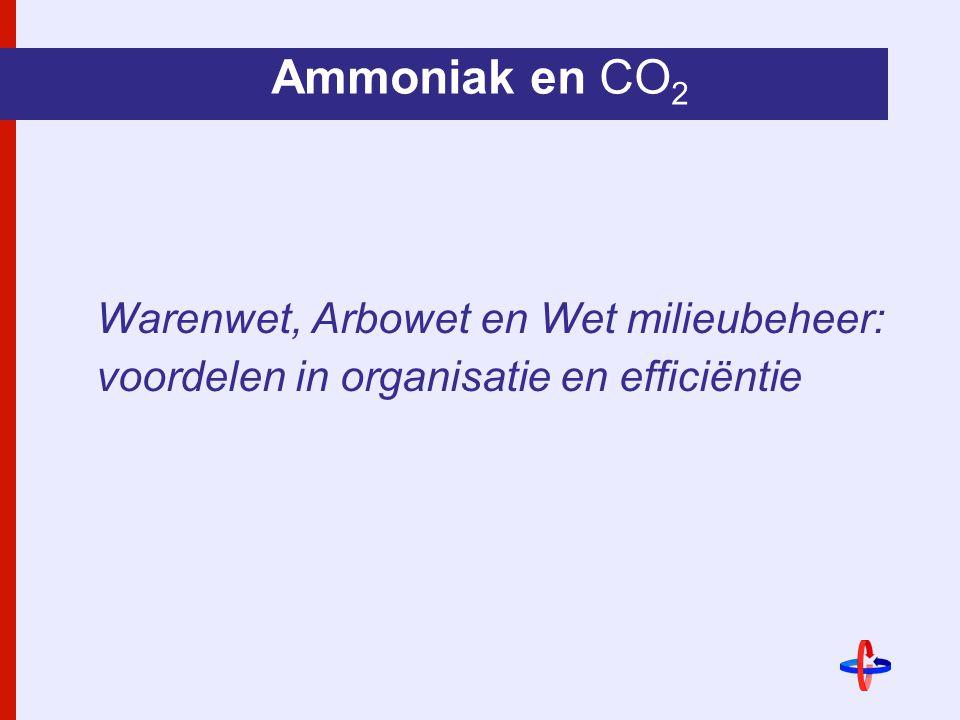 Ammoniak en CO 2 Warenwet, Arbowet en Wet milieubeheer: voordelen in organisatie en efficiëntie