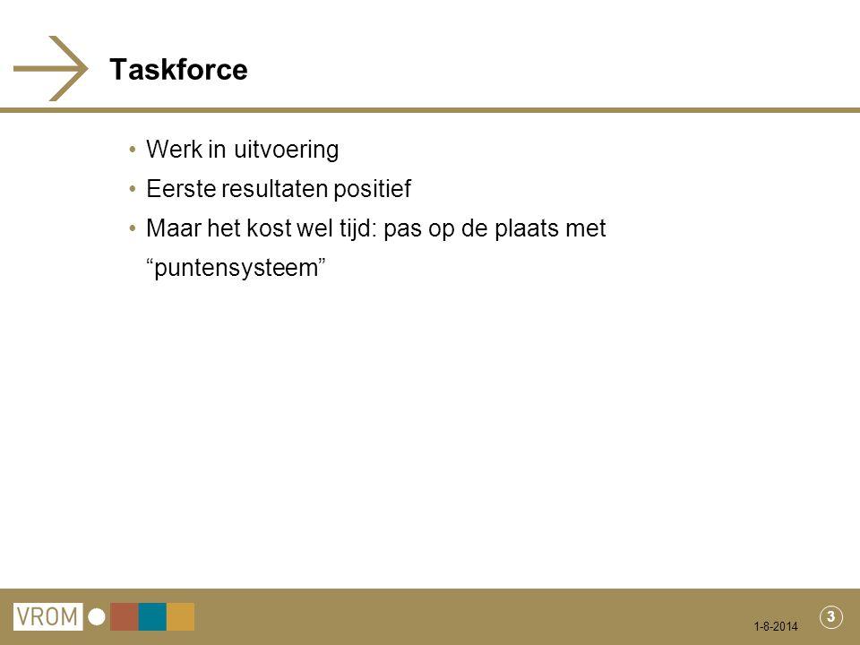4 Gevolgen Taskforce voor wet- en regelgeving Vergunningplichtige inrichtingen: vergunning Inrichtingen Activiteitenbesluit: - Verkeer en vervoerbepalingen in Activiteitenbesluit (art.