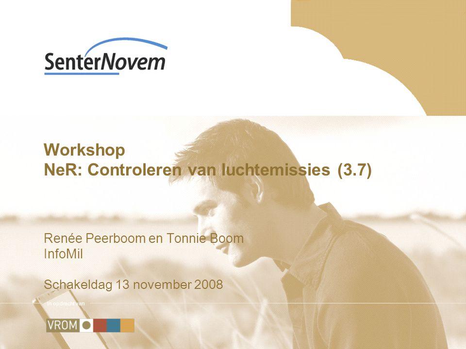 Inhoud Presentatie Wettelijke eisen controlevoorschriften in vergunning NeR 3.7 als informatiebron Digitale tool Voorbeeld Bedrijf met stofemissie Casussen