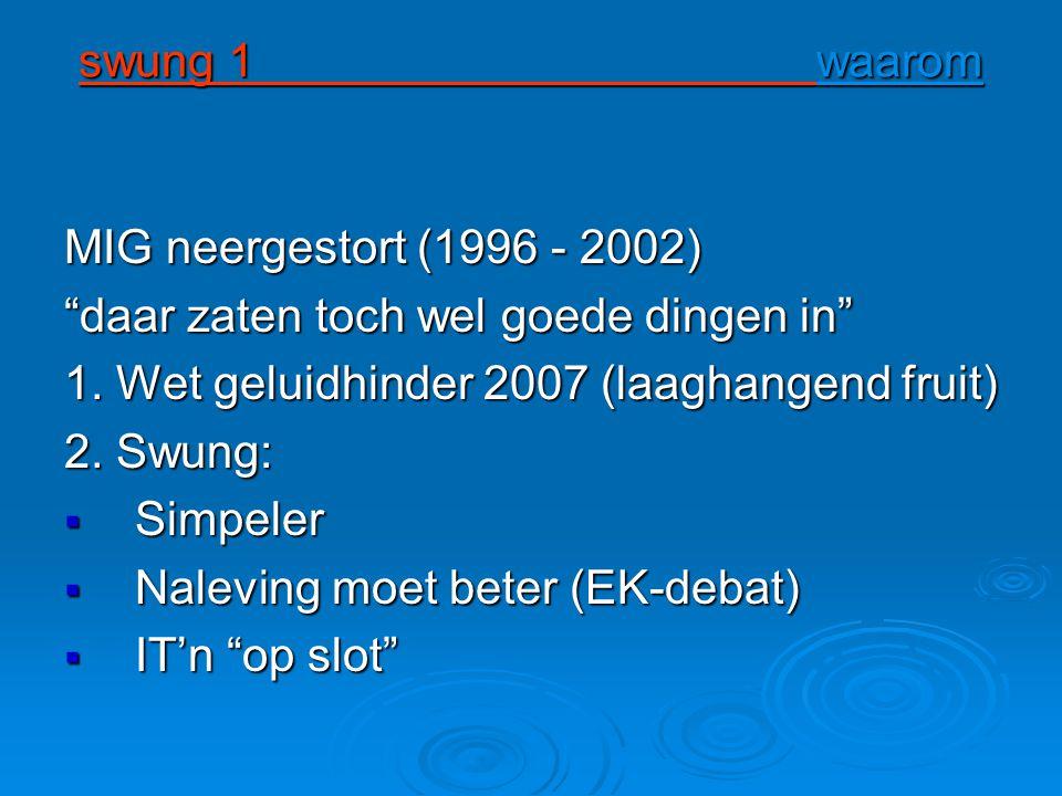 swung 1 waarom swung 1 waarom MIG neergestort (1996 - 2002) daar zaten toch wel goede dingen in 1.