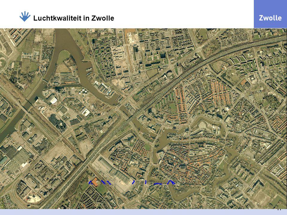 11 Luchtkwaliteit in Zwolle Het plangebied