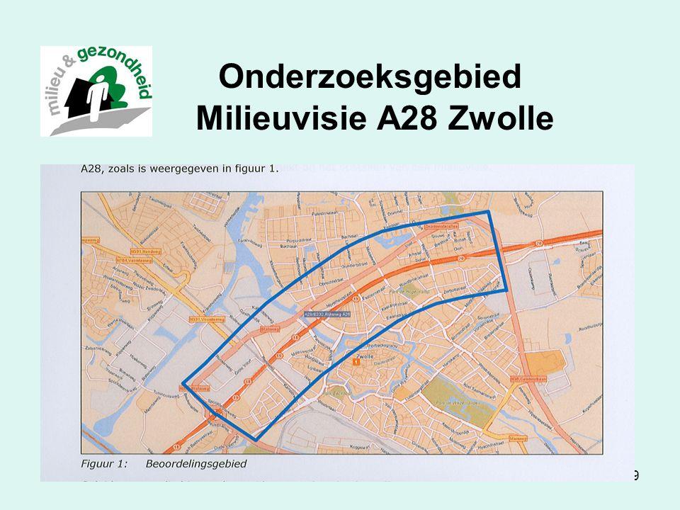 Luchtkwaliteit in Zwolle39 Onderzoeksgebied Milieuvisie A28 Zwolle